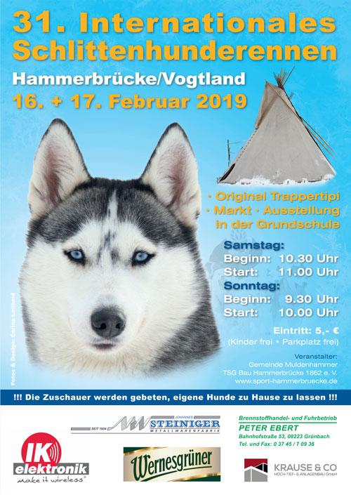 31. Schlittenhunderennen am 16. und 17.02.2019